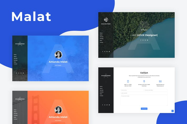 Thumbnail for Malat - Bootstrap Personal Resume Template
