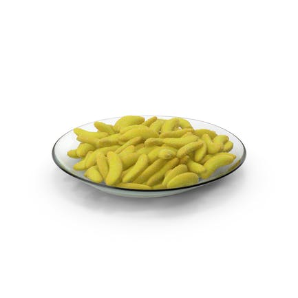 Teller mit Gummy Bananen