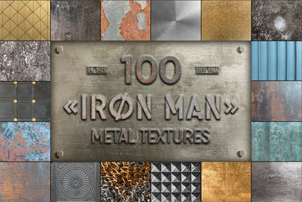 Iron Man - 100 Metalltexturen