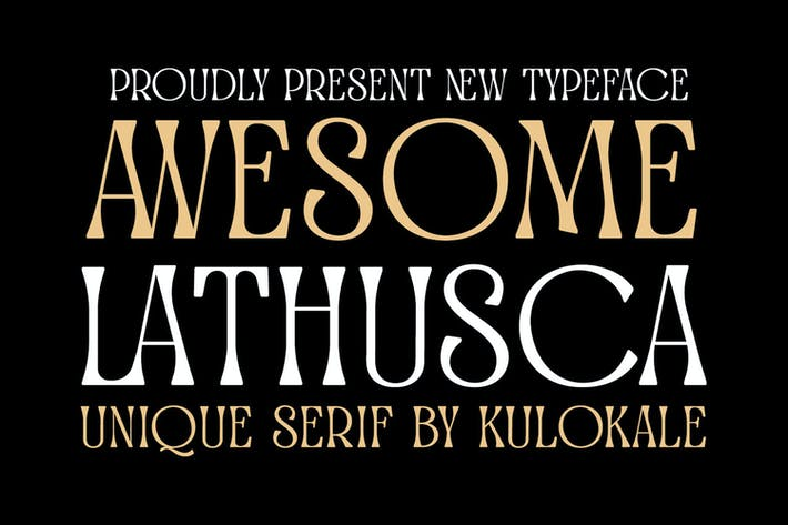 Thumbnail for Awesome Lathusca Serif Font