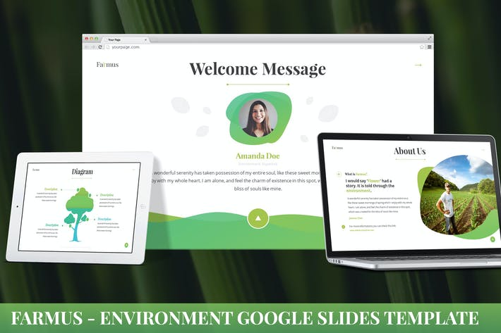 Thumbnail for Farmus - Environment Google Slides Template