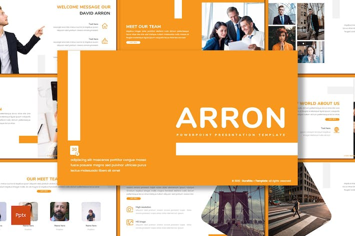 Thumbnail for Arron - Business Powerpoint Template