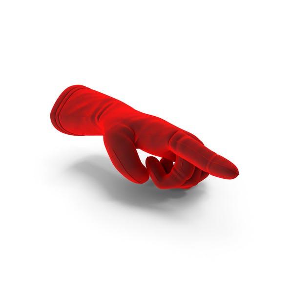 Бархатная перчатка, указывающая
