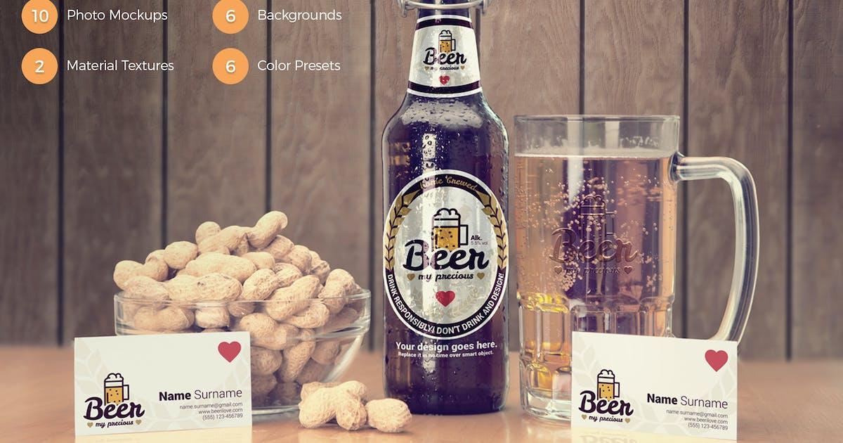 Download Craft Beer Package & Branding Mock-up - Vintage by CreativeForm