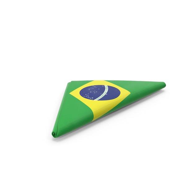 Flag Folded Triangle Brazil