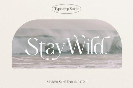 Stay Wild Serif Display