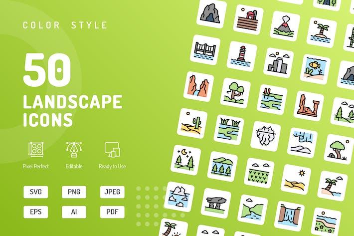 Landscape Color Icons