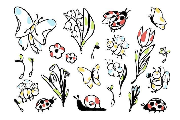 Thumbnail for Schöne Frühling Doodles