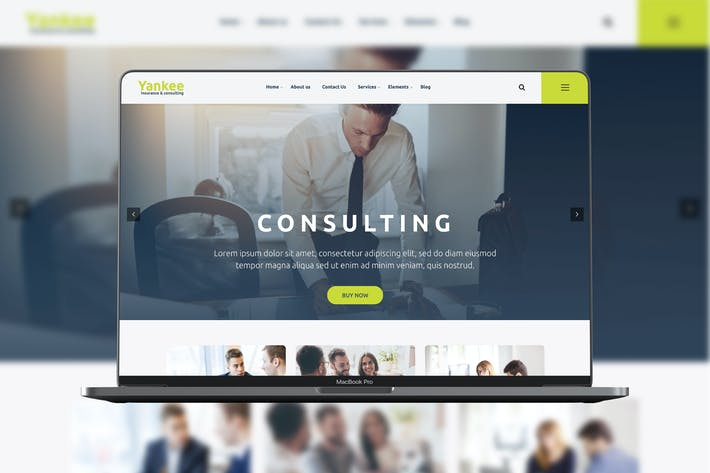 Thumbnail for Yankee - Consulting WP Theme