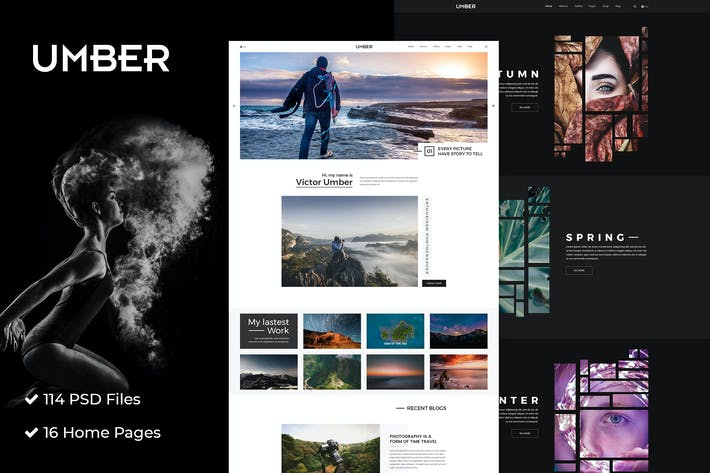 Thumbnail for Umber Photography | Photography PSD Template