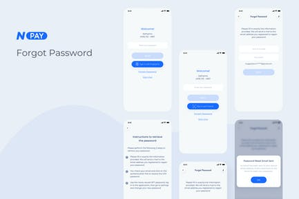 Forgot Password - Wallet Mobile UI - N