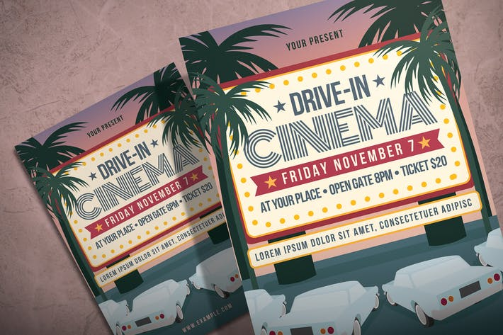 Thumbnail for Drive In Cinema - Flyer Template