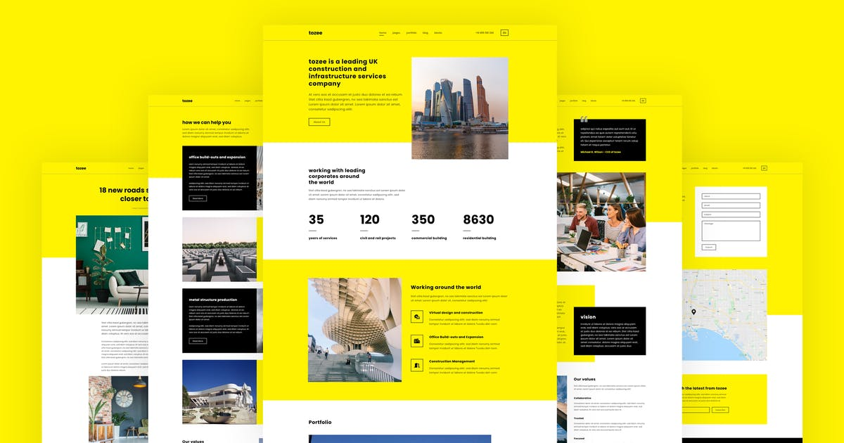 Download Tozee - Construction HTML Template by energeticthemes