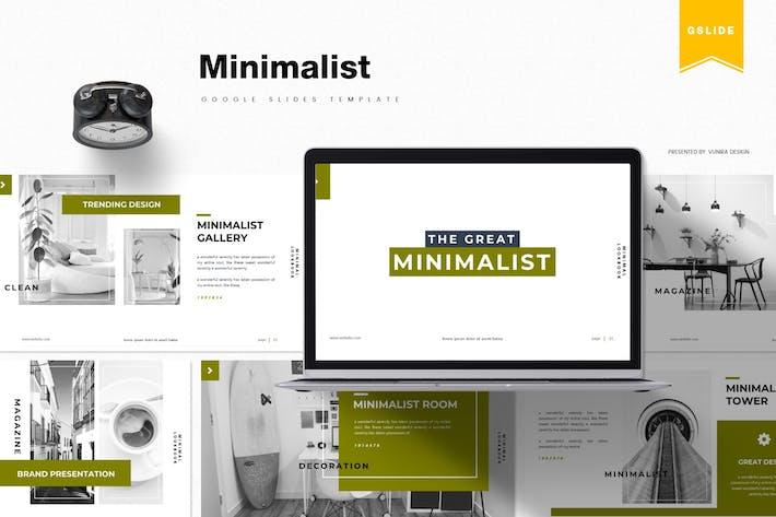 Минималистский | Шаблон слайдов Google