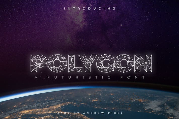 Thumbnail for Polygon Technology Font