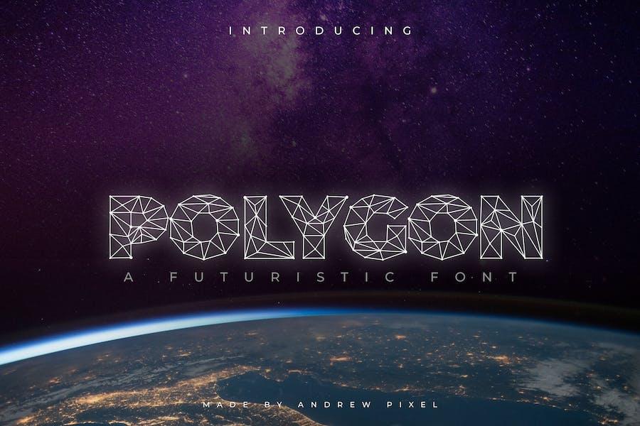 Polygon Technology Font