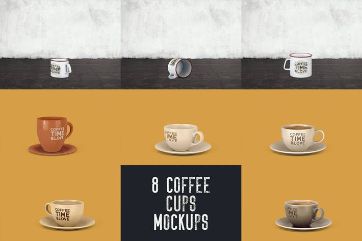Thumbnail for 8 Coffee Cup Mockups