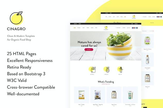 Cinagro - Organic Food Shop HTML Template