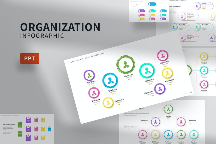 Organization Infographic Powerpoint Template