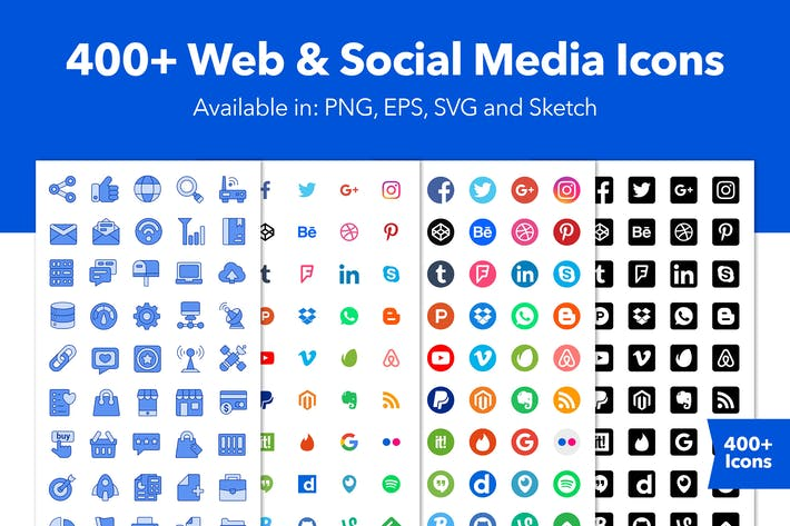 Thumbnail for Huge Social Media and Web Icons Set