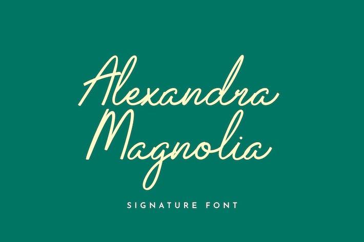 Alexandra Magnolia Signature Font