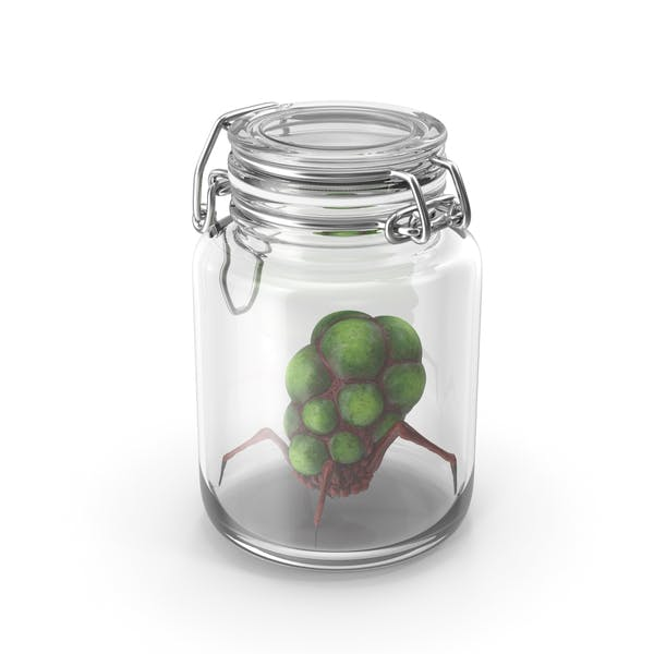 Glass Jar with Alien Creature