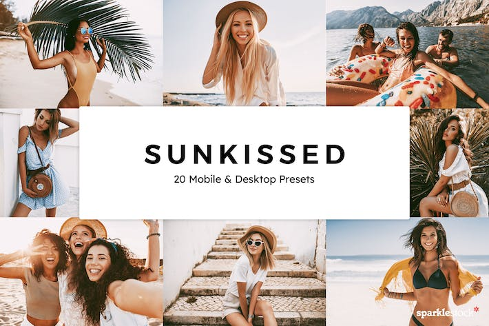 Thumbnail for 20 Sunkissed Lightroom Presets & LUTs