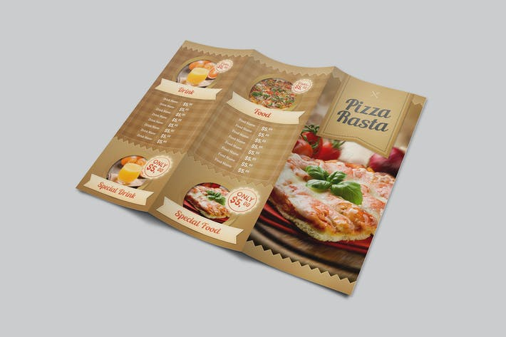Thumbnail for Food Menu Trifold
