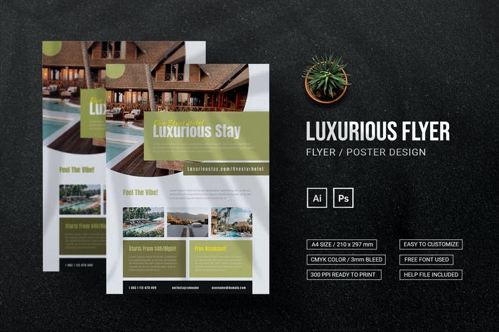 Luxurious Stay Hotel - Flyer