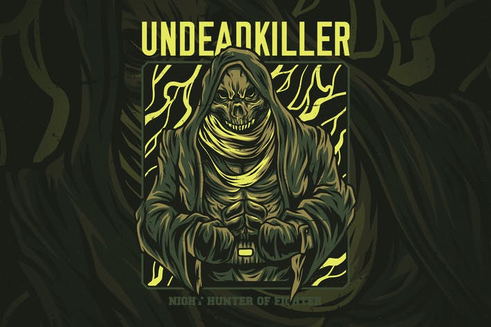 Thumbnail for Undead Killer T-Shirt Design