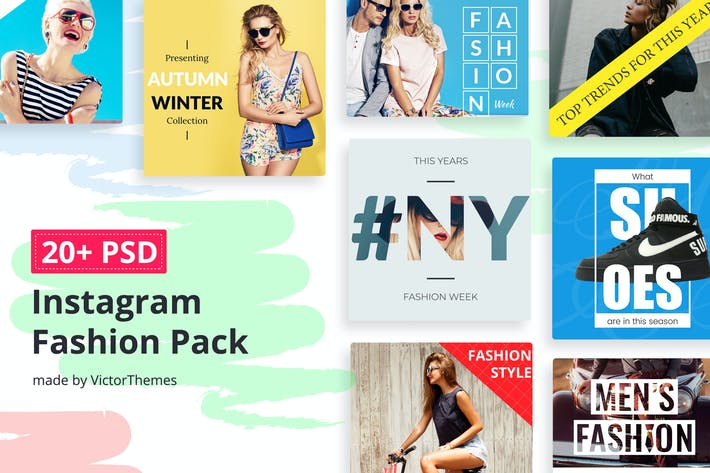 Thumbnail for Instagram Social Media Fashion Pack