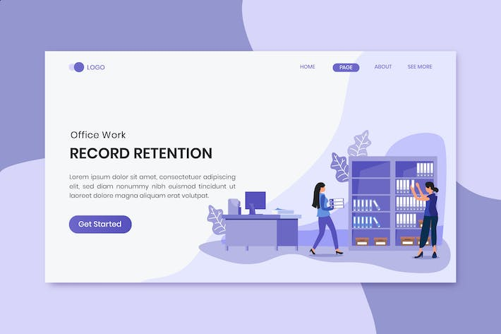 Thumbnail for Library Office Business Worker Landing Page