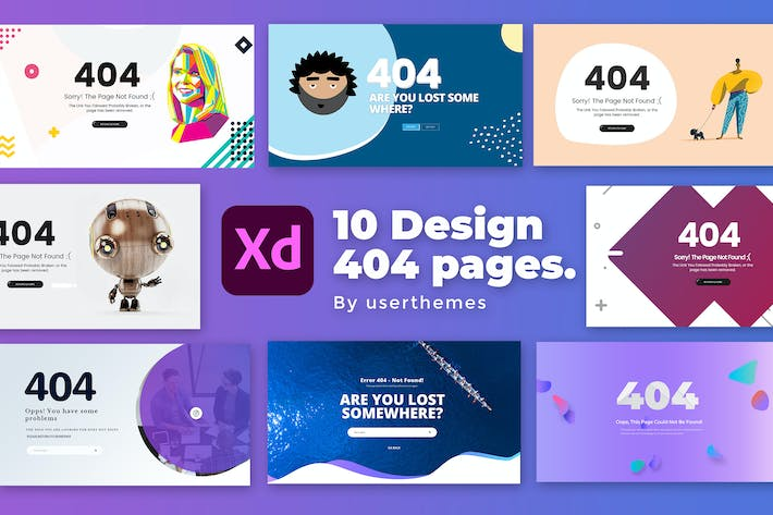 Creative 404 Pages For Website XD Template