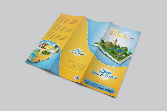 Thumbnail for Tour & Travel Trifold Brochure