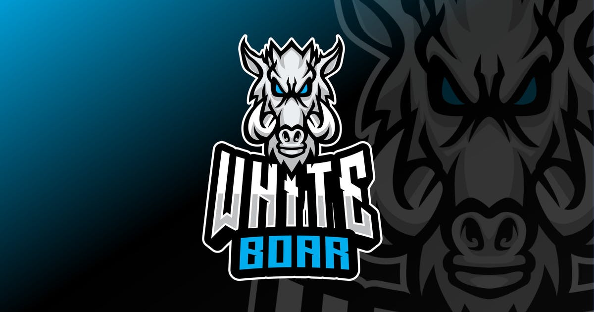 Download White Boar Sport and Esport Logo Template by queentype