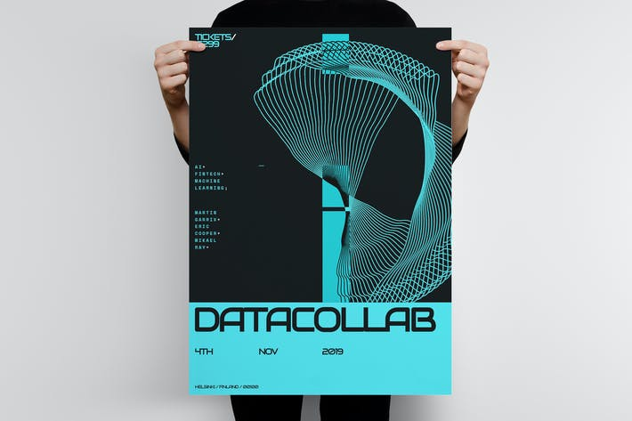 Thumbnail for Data Collab Poster Template 2