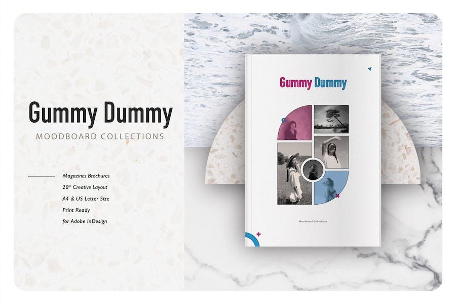 Gummy Dummy Moodboard Vorlage