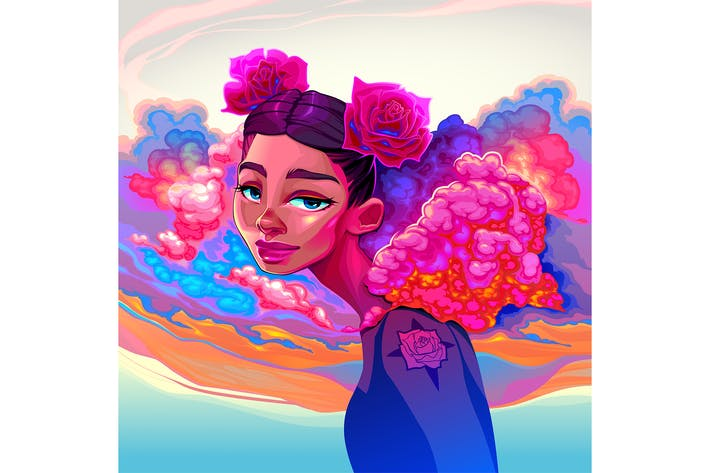 Thumbnail for Girl with Clouds and Roses in the Hair