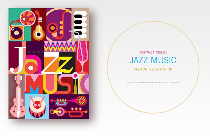 Thumbnail for Jazz Music vector poster design