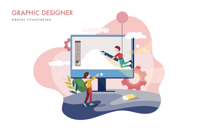 Thumbnail for Graphic designer Vector Illustration