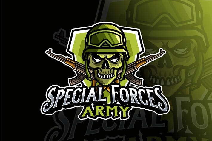 Thumbnail for Special Forces Army Logo Template