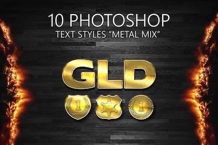 10 Estilos de Photoshop «METAL MIX»