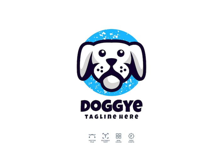 Doggye Dog Logo Design