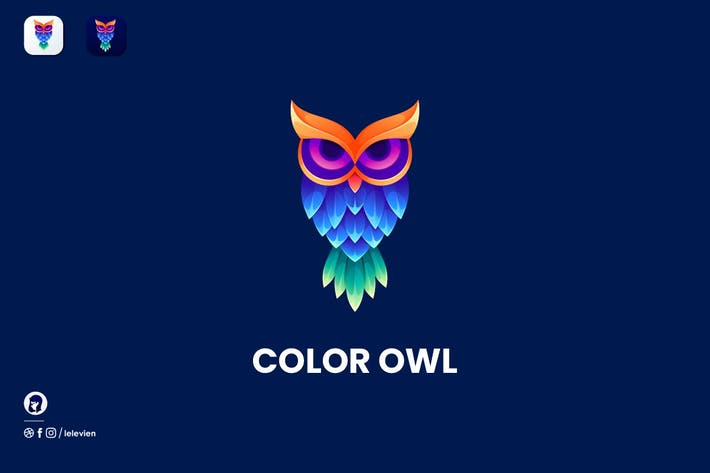 Thumbnail for Color Owl logo template