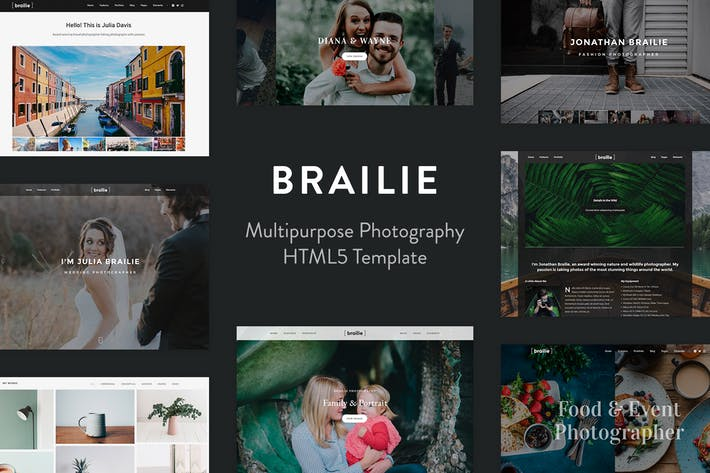 Thumbnail for Brailie Photography Template for Photography