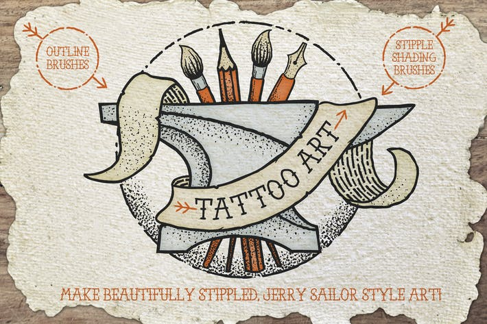 Cover Image For Tattoo Style Art Brushes