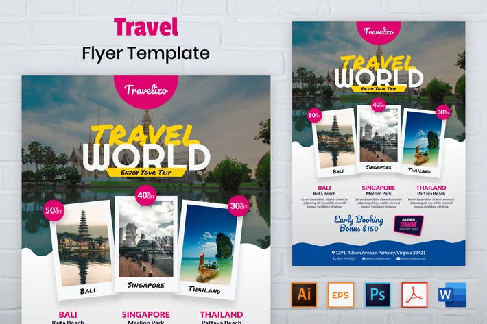 Thumbnail for Nuzie - Travel Flyer Template
