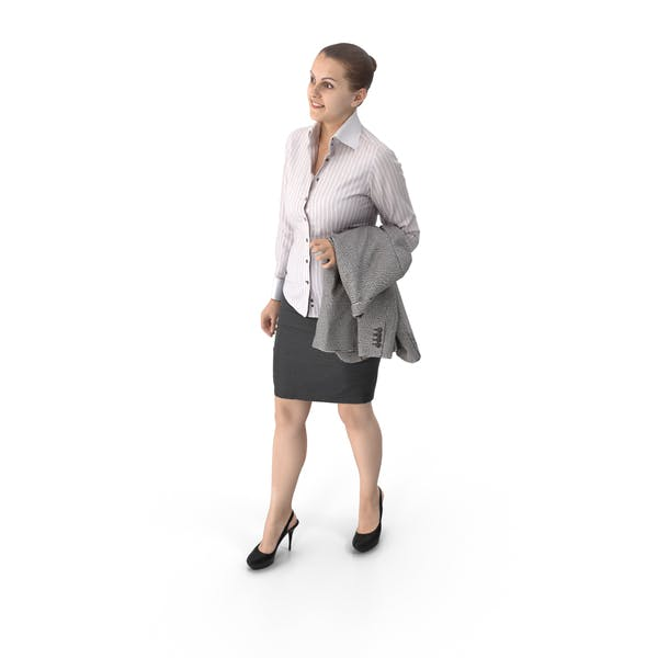 Business Woman Holding Jacket