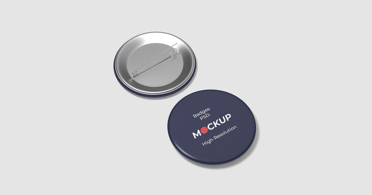Download Pin Button Badge Mockup Vol.2 by graphiccrew