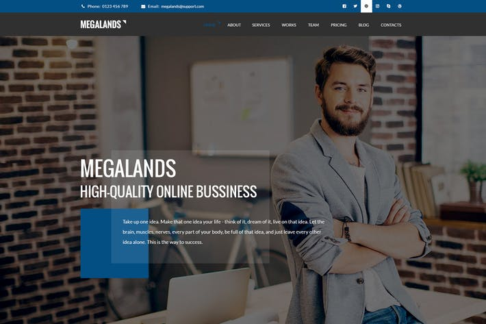 Thumbnail for MegaLands - многоцелевые целевые страницы Drupal 8